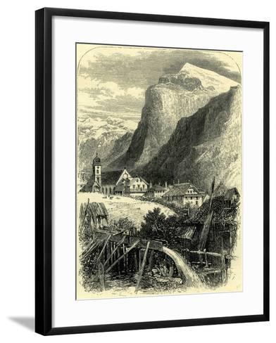 Engelberg and the Titlis Switzerland--Framed Art Print
