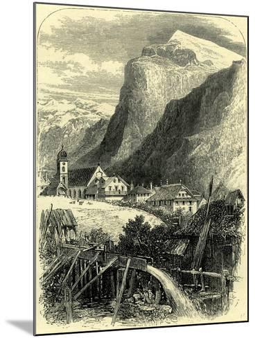 Engelberg and the Titlis Switzerland--Mounted Giclee Print