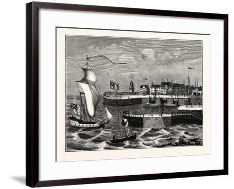 Edinburgh: Leith Harbour About 1700--Framed Art Print