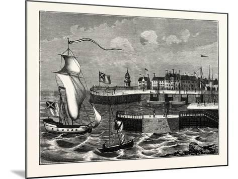 Edinburgh: Leith Harbour About 1700--Mounted Giclee Print