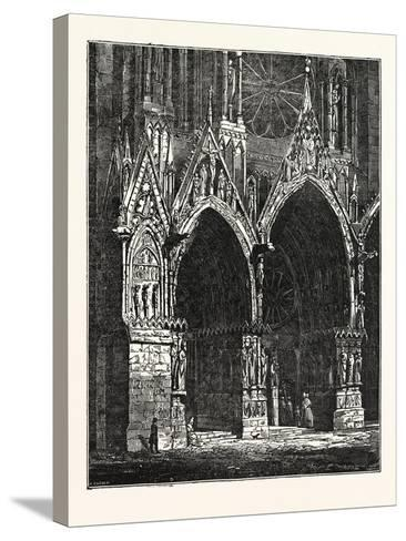 This Cathedral of Rheims, in France--Stretched Canvas Print