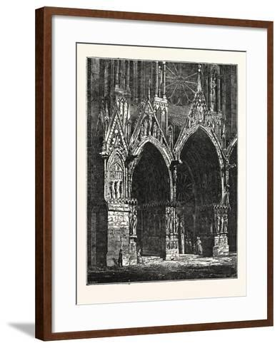 This Cathedral of Rheims, in France--Framed Art Print