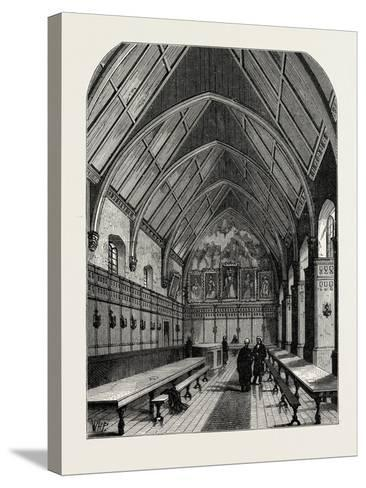 The Old Hall of the Inner Temple London--Stretched Canvas Print