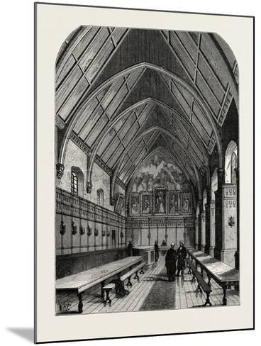 The Old Hall of the Inner Temple London--Mounted Giclee Print