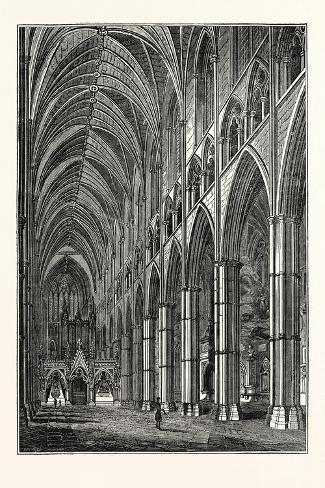 Nave of Westminster Abbey, London, UK--Stretched Canvas Print