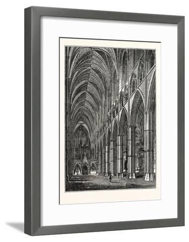 Nave of Westminster Abbey, London, UK--Framed Art Print