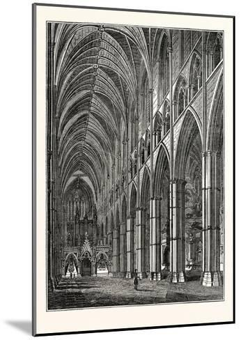 Nave of Westminster Abbey, London, UK--Mounted Giclee Print