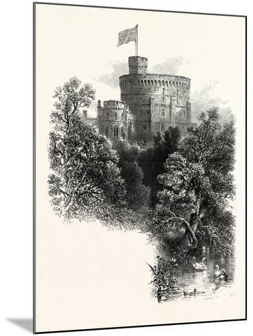 Windsor Castle, the Round Tower, UK--Mounted Giclee Print