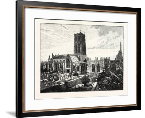 Howden Church: View from the South East--Framed Art Print