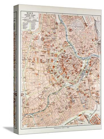 Map of the Centre of Vienna Austria 1899--Stretched Canvas Print
