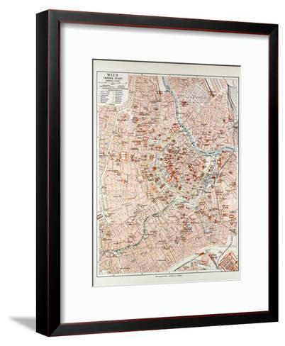Map of the Centre of Vienna Austria 1899--Framed Art Print