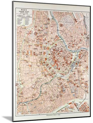 Map of the Centre of Vienna Austria 1899--Mounted Giclee Print