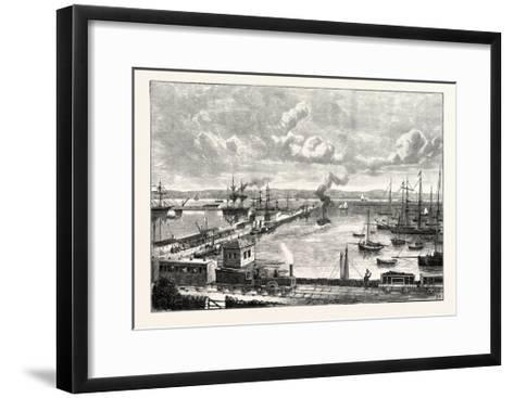 Edinburgh: Granton Harbour and Pier--Framed Art Print