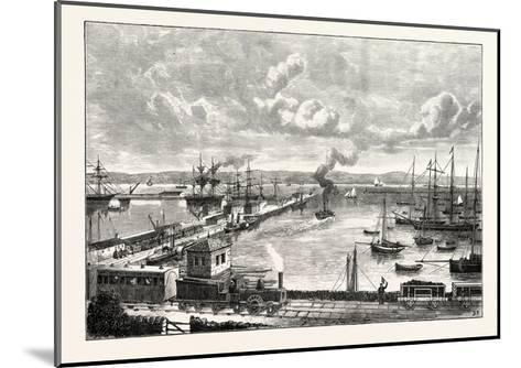 Edinburgh: Granton Harbour and Pier--Mounted Giclee Print