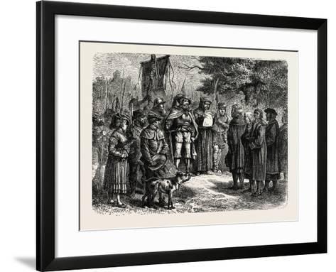 Reading an Ordinance of the Fehmgericht--Framed Art Print