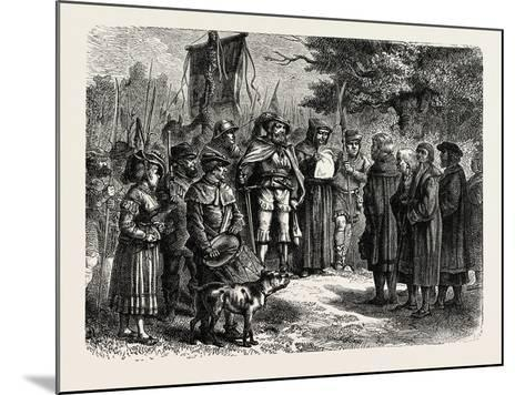 Reading an Ordinance of the Fehmgericht--Mounted Giclee Print
