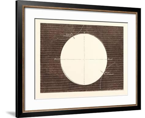 Eclipse of the Sun, March 15, 1858--Framed Art Print