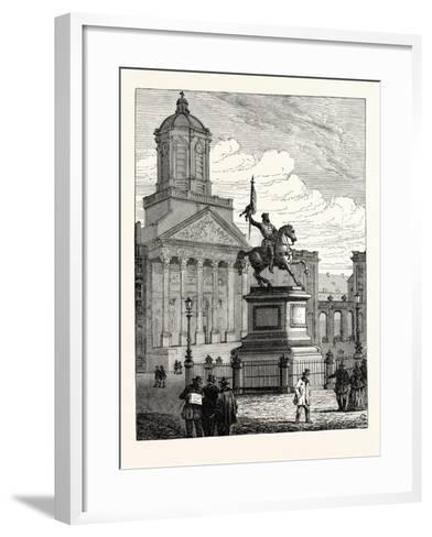 Statue of Godfrey De Bouillon Brussels--Framed Art Print