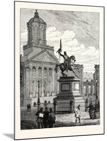 Statue of Godfrey De Bouillon Brussels--Mounted Giclee Print