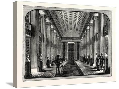 The Library Hall Edinburgh University--Stretched Canvas Print