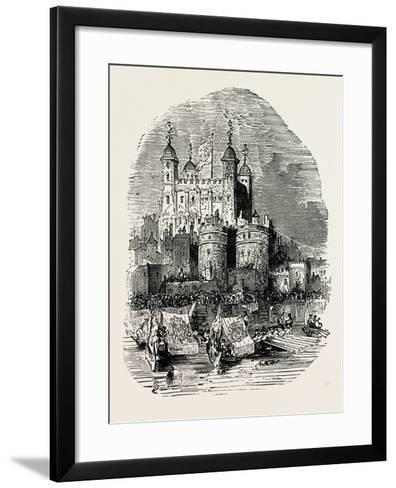 Procession Quitting the Tower London--Framed Art Print