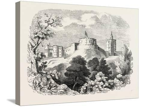 Windsor Castle in the Time of Edward III--Stretched Canvas Print