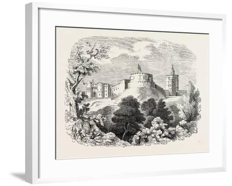 Windsor Castle in the Time of Edward III--Framed Art Print