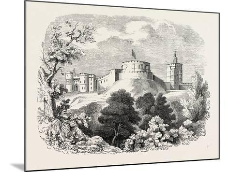 Windsor Castle in the Time of Edward III--Mounted Giclee Print