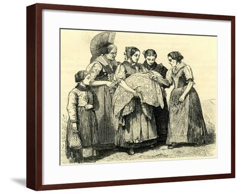 Female Costumes in Appenzell Switzerland--Framed Art Print