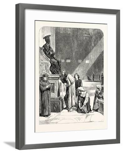 The Statue of St. Peter. Rome Italy--Framed Art Print