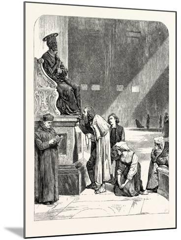 The Statue of St. Peter. Rome Italy--Mounted Giclee Print