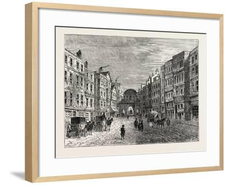 Temple Bar West Front in 1710, London--Framed Art Print