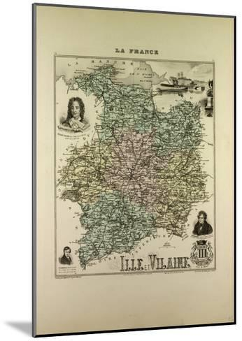 Map of Ille and Vilaine 1896, France--Mounted Giclee Print