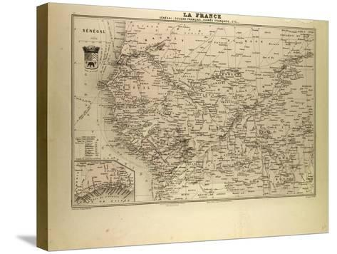 Map of Senegal Sudan and Guinea 1896--Stretched Canvas Print