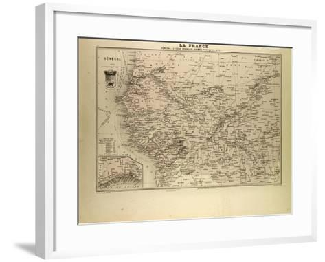 Map of Senegal Sudan and Guinea 1896--Framed Art Print