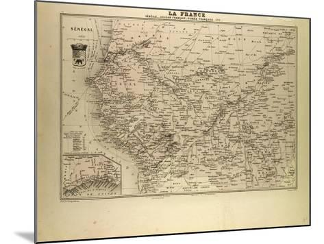 Map of Senegal Sudan and Guinea 1896--Mounted Giclee Print