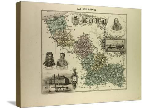 Map of the North West of France 1896--Stretched Canvas Print