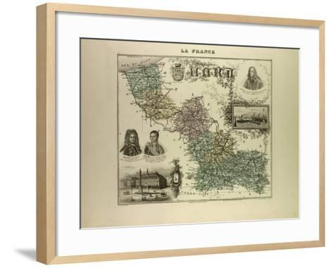 Map of the North West of France 1896--Framed Art Print