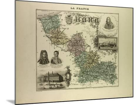 Map of the North West of France 1896--Mounted Giclee Print