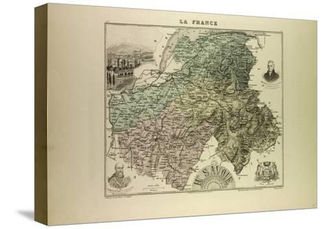 Map of Haute Savoie 1896 France--Stretched Canvas Print