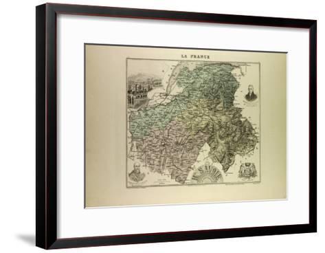Map of Haute Savoie 1896 France--Framed Art Print