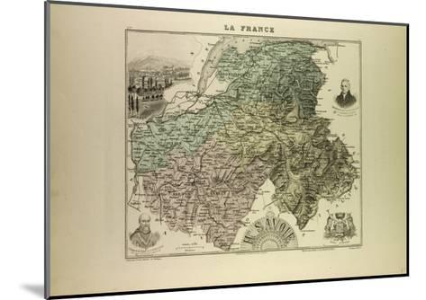 Map of Haute Savoie 1896 France--Mounted Giclee Print