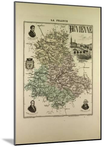 Map of Haute Vienne 1896 France--Mounted Giclee Print