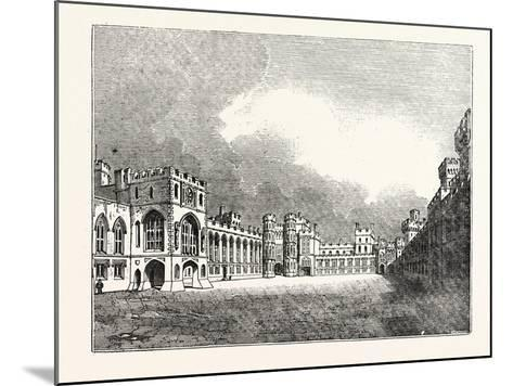 Windsor Castle Great Quadrangle--Mounted Giclee Print