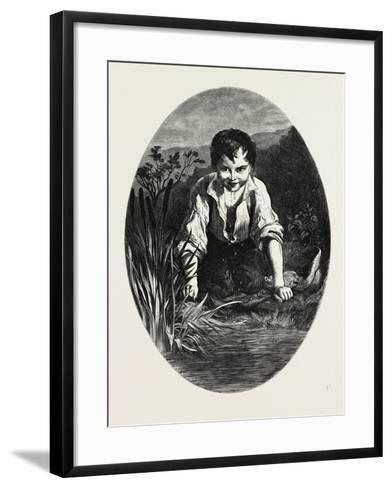 The Happy Hours of Childhood--Framed Art Print