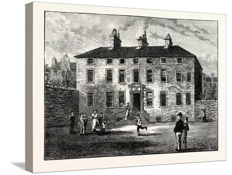 Edinburgh: Balmerino House Leith--Stretched Canvas Print
