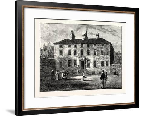 Edinburgh: Balmerino House Leith--Framed Art Print