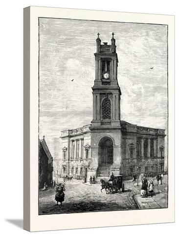 Edinburgh: St. Stephen's Church--Stretched Canvas Print