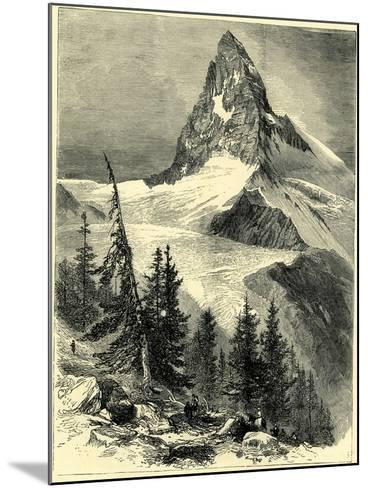 The Matterhorn Switzerland--Mounted Giclee Print