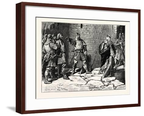 Surrender of Bamborough Castle--Framed Art Print